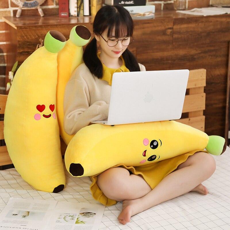 1 Pza 80/100CM lindos juguetes de frutas de felpa amarillo Banana felpa plantas de juguete Banana almohadas para la cama de Casa bebé niños regalos de cumpleaños 30ml lubricante Banana crema comestible grasa Personal lubricante anal vaginal oral lubricante para sexo aceite de masajes para pene Gel de amor para la pareja