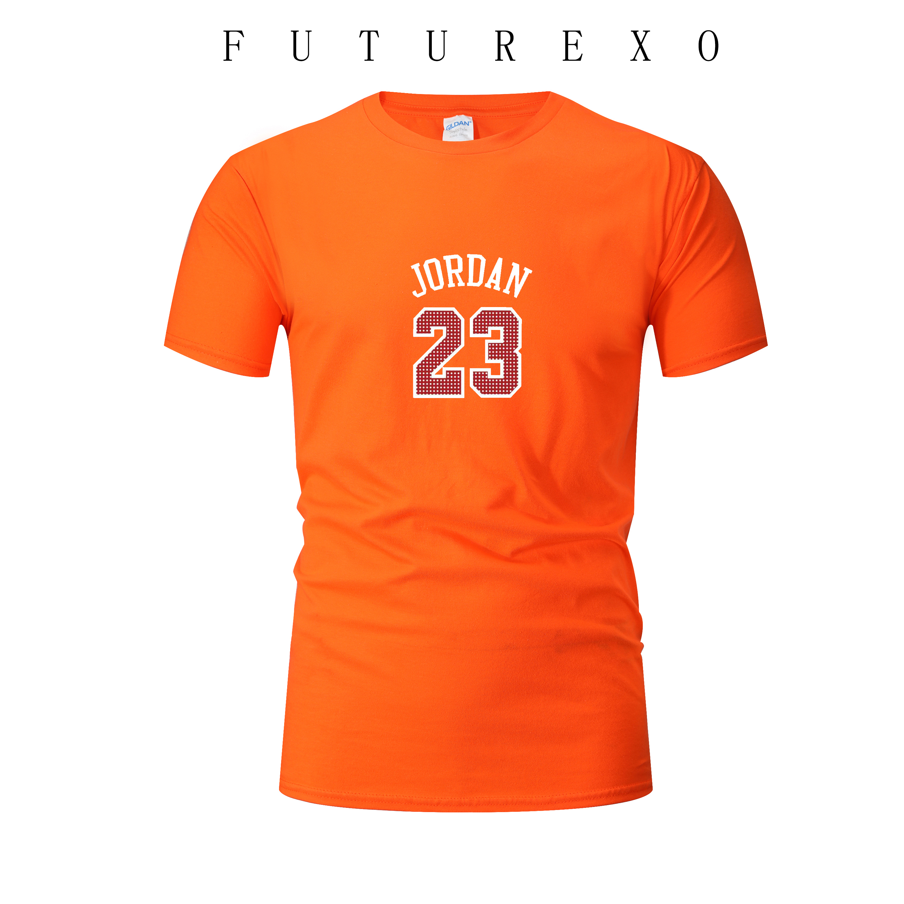 Men's new summer basketball sports T-shirt fashion <font><b>Jordan</b></font> <font><b>23</b></font> print casual T-shirt youth campus court T-shirt running T-shirt image