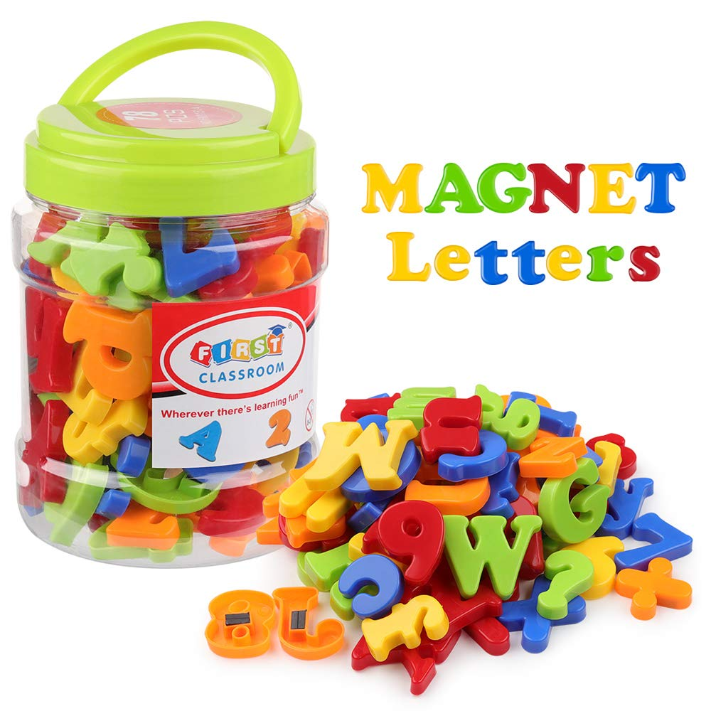 Magnetic Letters Numbers Alphabet Fridge Magnets ABC 123 Educational Toy Set Preschool Learning Spelling Counting For Toddler
