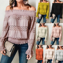 Casual Solid Female Shirts Outwear Tops 2020 Autumn New Women Chiffon Blouse Off