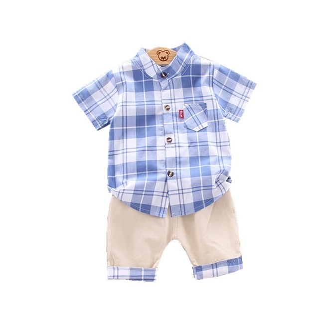 2020 summer  Boys shirt and Shorts Pants 2 pieces Clothing sets children's clothing Baby Boys clothes Children's Clothes Sets 1