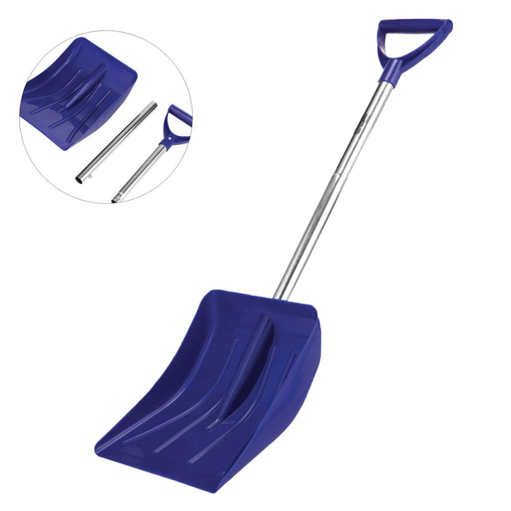 New Winter Snow Shovel Plastic Snow Remove Tool With Aluminum Alloy Handle Collapsible Snow Shovel For Camping Outdoor Cleaner