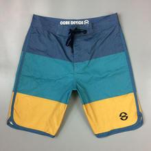 Мужские Пляжные Шорты стрейч Лоскутные для плавания одежда серфинга