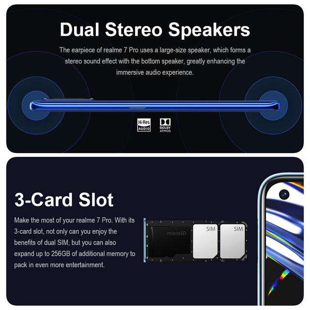 realme 7 Pro NFC Smartphones 64MP 8GB 128 GB 65W Fast Charge 4500mAh Smart Mobile Phone Snapgragon 720G androidGaming Cellphones 5