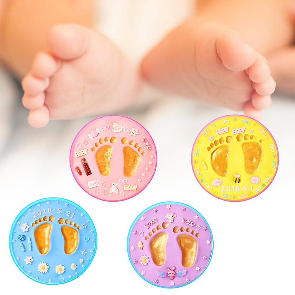 Baby Hand And Foot Print Children's Hand And Foot Print Mud DIY Newborn Hundred Days Full Moon Gift Year-old Souvenir