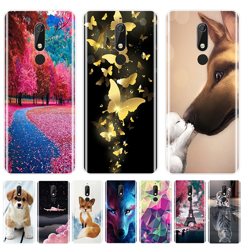 TPU Phone Case For <font><b>Nokia</b></font> 2.1 3.1 5.1 <font><b>6.1</b></font> 7.1 Lovely animals Soft <font><b>Silicone</b></font> <font><b>Back</b></font> <font><b>Cover</b></font> For <font><b>Nokia</b></font> 2.1 3.1 5.1 <font><b>6.1</b></font> 7.1 <font><b>Plus</b></font> image