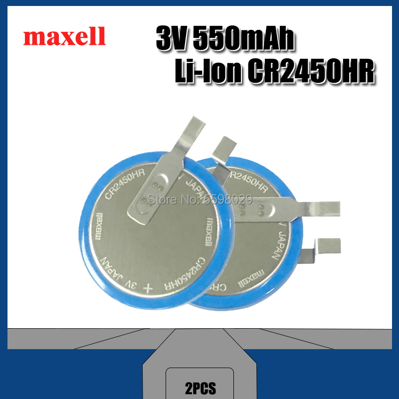 2PCS Brand new original Maxell <font><b>CR2450N</b></font> high temperature <font><b>battery</b></font> 3V tire pressure monitoring <font><b>battery</b></font> CR2450HR CR2450 image