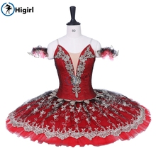 Women Red Black Classical Pancake Tutu Ballerina Costumes Girls Don Quijote Comeptition Professional Adult BT9203