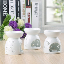 Creative Love Heart Essential Oil Burner Ceramic Aroma Lamp Hollowing Candle Aromatherapy Furnace Home Furnishing Decoration incense burner buddha head aromatic oil burner ceramic aromatherapy lamp light candle aroma furnace oil lamp essential home g