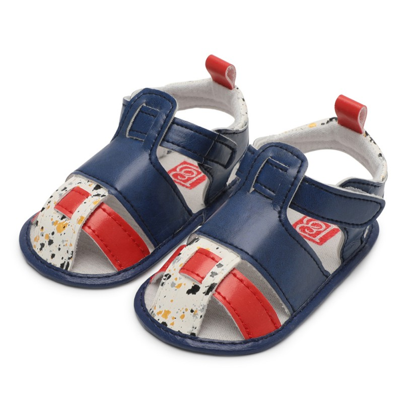Cute Multi-color Splice Summer Baby Sandals Fashion Casual Shoes Baby Boys Girls Toddler Shoes 0-18M Newborn Lovely Gifts