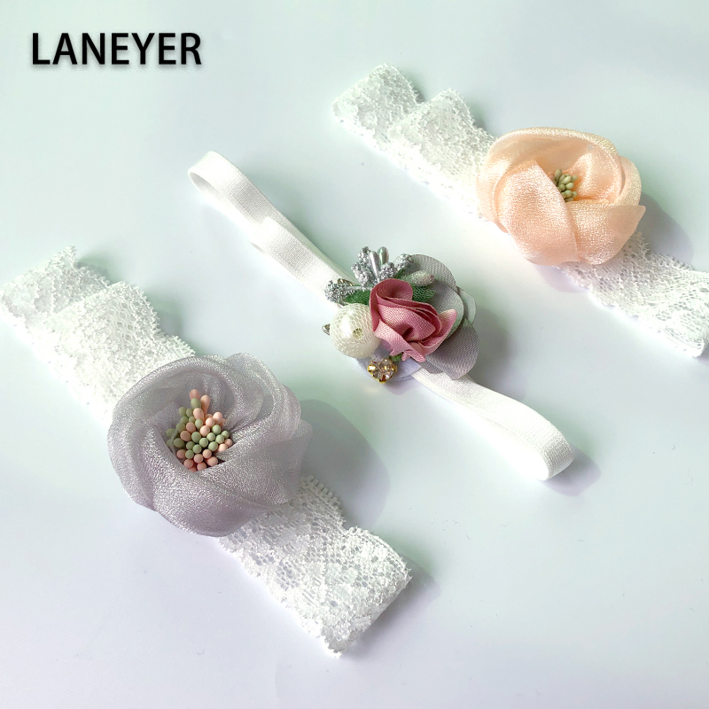 LANEYER Infant Baby Headband Fashion Princess Hair Band Kids Girl Flower Hair Accessories Newborn Photography Props Turban
