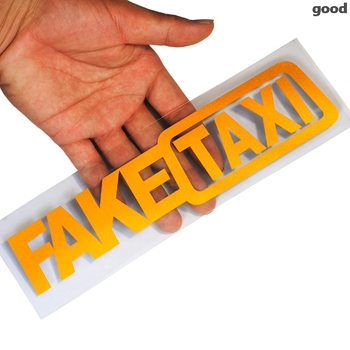 Car Sticker FAKE TAXI Reflective Car Sticker for volkswagen golf 4 ford focus 3 toyota auris seat exeo bmw e46 audi A1 A2 image