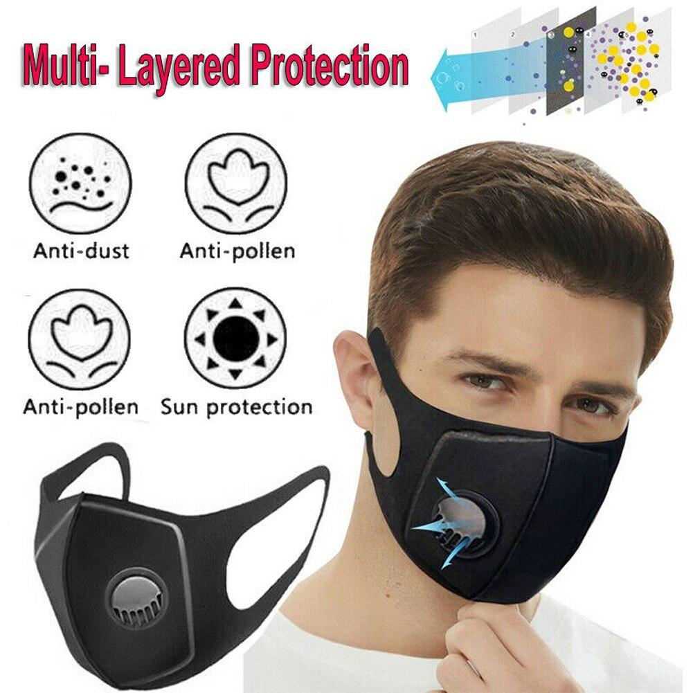 Korean Cotton Fabric Mouth Face Mask PM2.5 Anti Haze/Anti Dust Mask Respirator Mascaras With Carbon Filter Respirator Black Mask