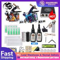 Complete Beginner Tattoo Kit Mini Tattoo Power Supply Cheap Tattoo Kit Set Grips Needles Tips Supplies