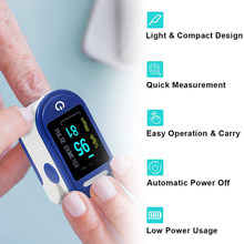 Dois-color display oled casa família fingertip oxímetro de pulso análise de sangue adulto dedo pulso oximetria medição de oxigênio no sangue