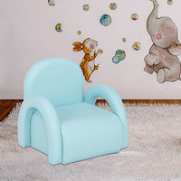 Mini Children Sofa Blue Princess Girl Cute Single Chair Durable Safe Baby Furniture Fashionable Leisure Seating 45 X 42 X 42 cm