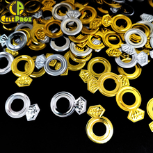 15g Diamond Ring Confetti Sequins Golden Silver Wedding Finger RIng Table Centerpieces Decoration DIY Home Decor Party Supplies