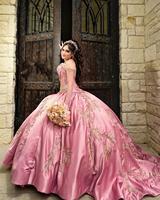 2020 Pink Sweet 16 Dress Quinceanera Dresses Pageant Gowns vestido vestidos de 15 años quinceañera vestidos de xv años Debutante