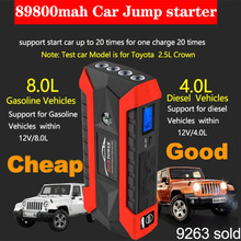Emergency Charger Battery 4USB 12V 600A LED Car Jump Starter Portable  Power Bank Car Booster Starting Device Waterproof charger