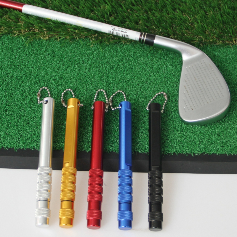 Golf Club Cleaner High Strength Stainless Steel Blade Alloy Golf Word Oblique Mouth Cleaning Knife Handl Grooves Cleaning Tool