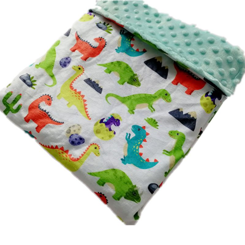 Baby Blanket & Swaddling Newborn Thermal Soft Fleece Mini Bobble 2 Layer Blanket Bedding Set Cotton Quilt