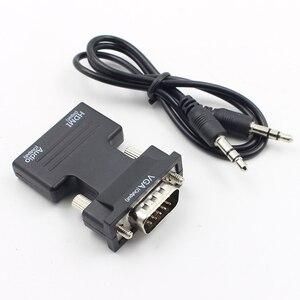 Image 4 - Kebidu 1080P HDMI VGA dönüştürücü adaptör ile ses kadın erkek kabloları adaptörü HDTV monitör için projektör PC PS3