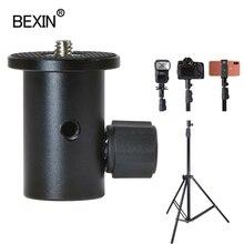 Alüminyum flaş tripod adaptörü top kafa adaptörü braketi 1/4 vida telefon flaş ışığı sony canon DSLR kamera aksesuarları