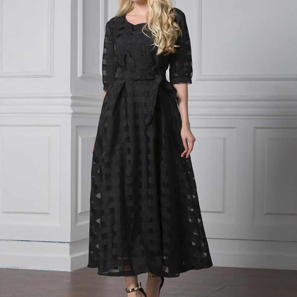 Осеннее платье больших размеров 5XL 6XL, женское платье с коротким рукавом, винтажное пышное платье из органзы, а-силуэт, большие размеры