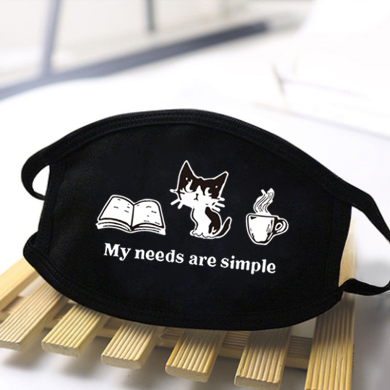 2020 Lovely Cute Cats Anti Dust Mask Breathable Reusable Masks Male Streetwear Masks Harajuku Protective Man Female Masque