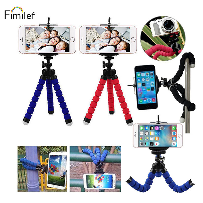 Fimilef Phone Tripod Mini Flexible Octopus Stand Mount Adjustable Travel Holder Monopod Styling Accessories ForCell Phone Camera