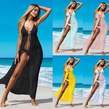 Womens Bikini Cover Up Swimwear Beach Maxi Wrap Sarong Kimono Kaftan Dress