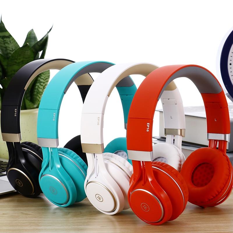HIFI Gaming Headset EP16 3.5mm Wired Foldable Stereo Headphone Over Ear Big Earphone For Phone Boy Gift Music Headset Headphones