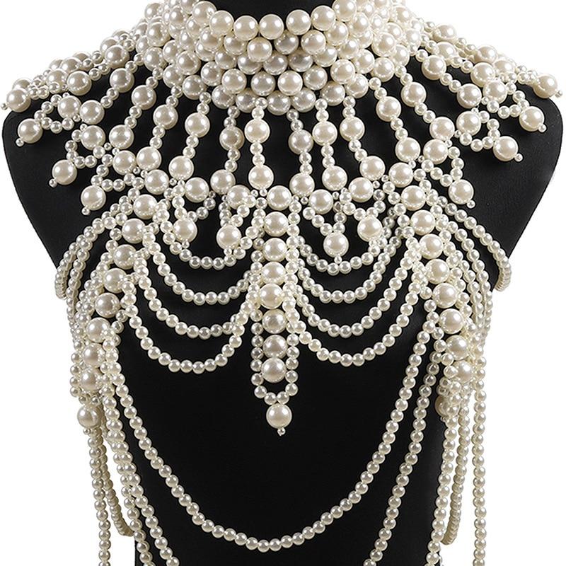 Collier de mariage élégant bijoux en argent chaîne en argent pour les femmes accessoires de robe de mariage de fête