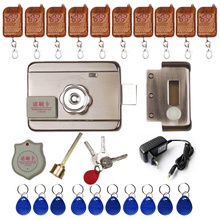 DC12V Electric rim lock for Metal Door Gate Electric Door Lock Opener 125KHZ RFID Card Lock Keyless Lock Electric Release цены онлайн