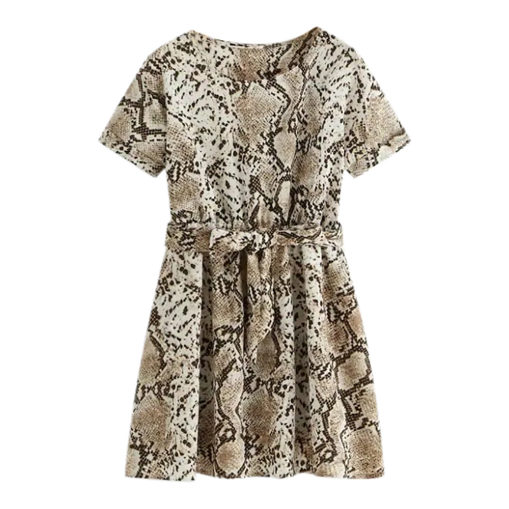 Fashion Dresses Casual Women Clothes Mini Dress O-Neck Short sleeve Floral Printed Slim Dress Fabulous Princess Outwear Blusas