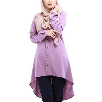 Women Muslim Long Sleeve Blouse Dress Modest Fashion Women's Tops Women's Fashion