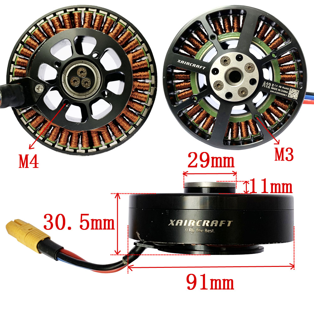 A12  Xaircraft Brushless Motor Motor for Agriculture UAV drone RC Plane Brushless Outrunner motor