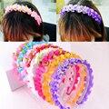Модная Детская повязка на голову, корейский милый женский ободок принцессы, аксессуары для волос, подарки