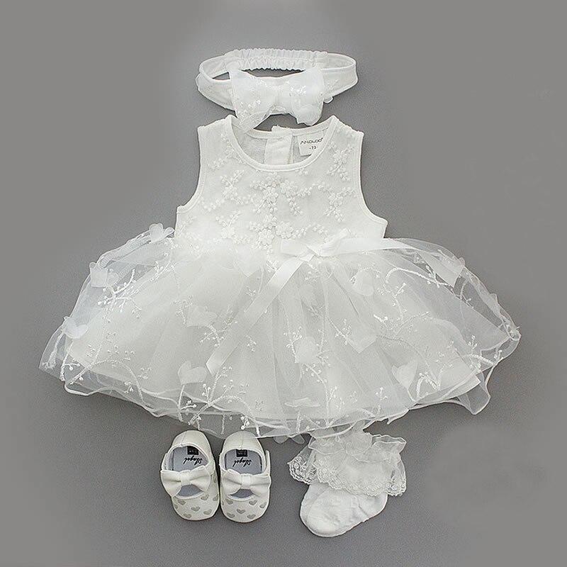 4 шт./компл. детское летнее платье для новорожденных девочек платье принцессы для крещения и крещения наряд для вечерние ринки на свадьбу 0 3 6...