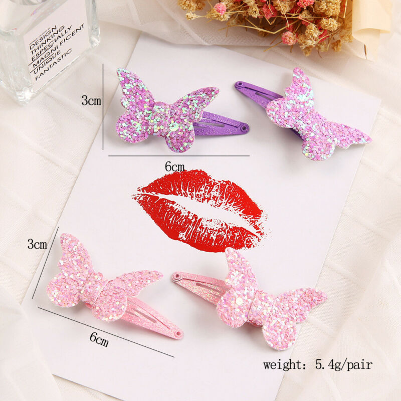 Kids Girls Baby Glitter Shiny Sequin Bowknot Hair Clip Hair Bow Hairpin