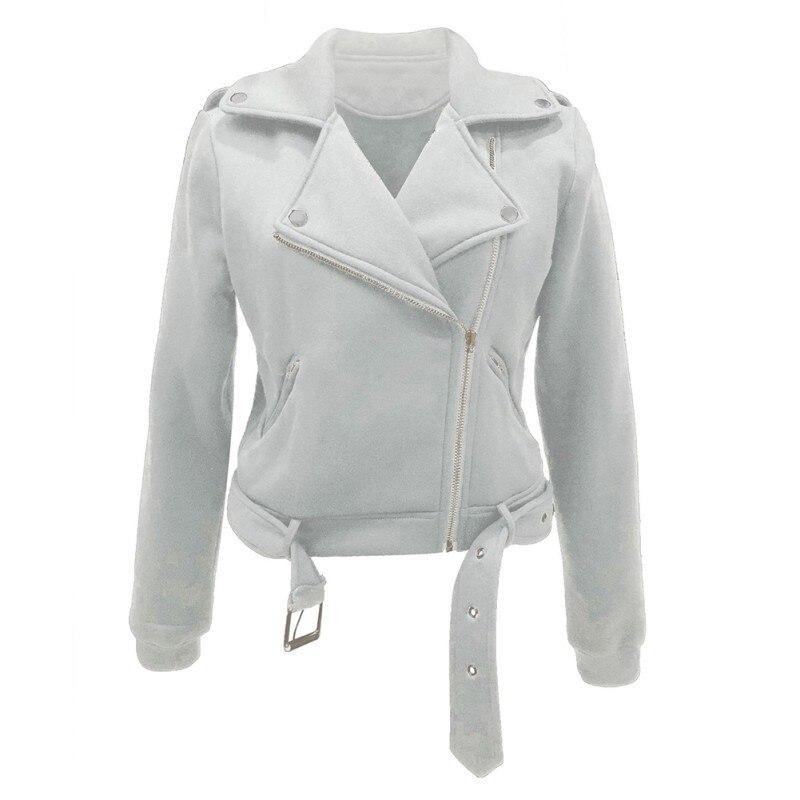 Autumn Winter Women Jackets Coat Suede Faux Leather Jackets Lady Fashion Matte Motorcycle Biker Coat Outwear W2