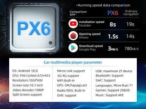 Image 2 - بوسيون 1 Din 9 PX6 Universal أندرويد 10.0 4GB + 64GB IPS راديو السيارة ستيريو لتحديد المواقع والملاحة واي فاي 1024*600 مع IPS DSP كاميرا مجانية
