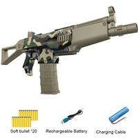 Электрический взрыв мягкий пуля пистолет костюм для Nerf открытый игрушка бластер с 20 пенные дротики для детей, подростков, взрослых