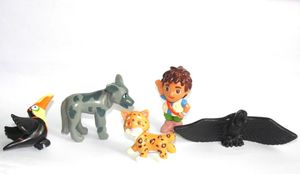 "Image 1 - GO,Diego,GO 5pcs and 6pcs Dora The Explorer US Original Order Children Toys Dora Diego and Animals Dolls 5cm 2"""