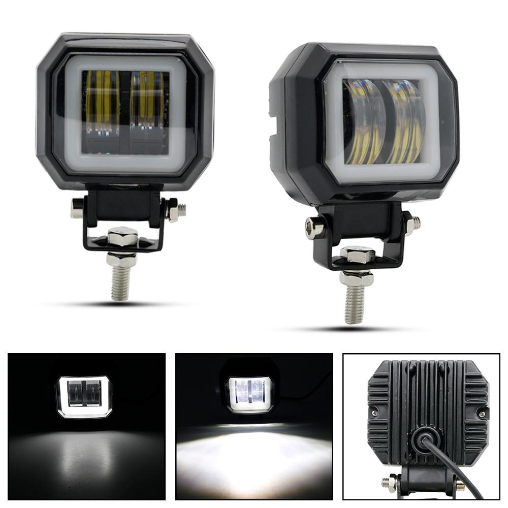 Impermeable Redondo De 3 pulgadas 20W 1800LM Luz LED Luz de Trabajo Spot Luces Pod Barco Coche
