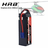 HRB Graphene Battery 6S 22.2V 3300mah 100C XT60-T connector Lipo Battery for Goblin 570 helicopter AlIGN T-REX 450L RC Car Boat