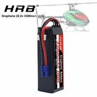 Hrb grafeno bateria 6 s 22.2 v 3300mah 100c XT60 T conector lipo bateria para goblin 570 helicóptero alinhar T REX 450l rc carro barco|Peças e Acessórios| |  -