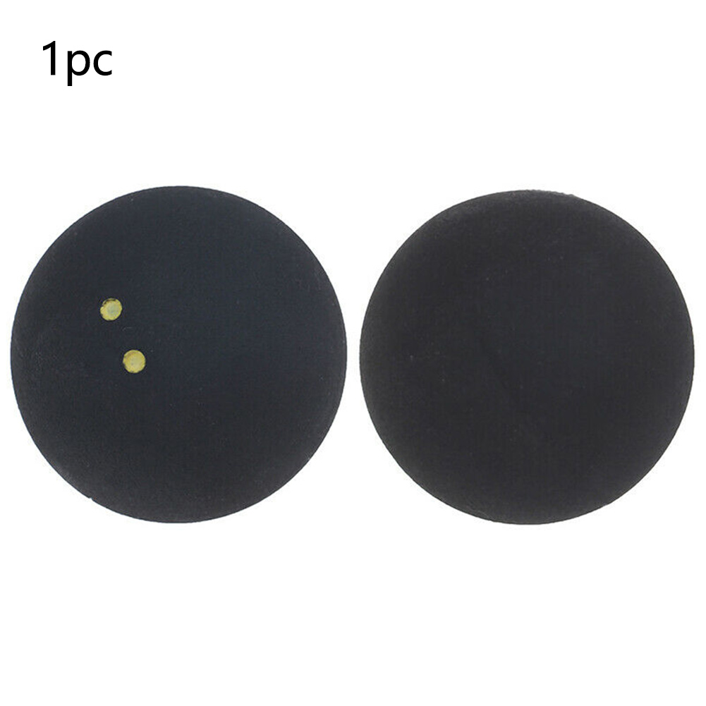 Round Sports Tool Rubber Two Yellow Dots Squash Ball 4cm Competition Training Bounce Low Speed Durable Professional Player