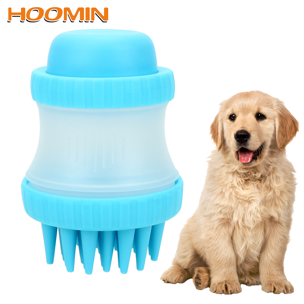 HOOMIN Pet Bathing Tool Palm-Sized Dog Massage Brush Cleaning Washing Bath Comfortable Massager Shower Tool Dog Accessories