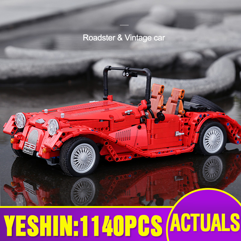 Yeshin Jalopy Roadster 1141PCS Classic Car Technic Car Model Building Blocks Bricks City Models DIY Cars